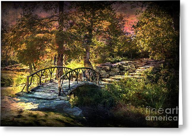 Woddard Park Bridge II Greeting Card