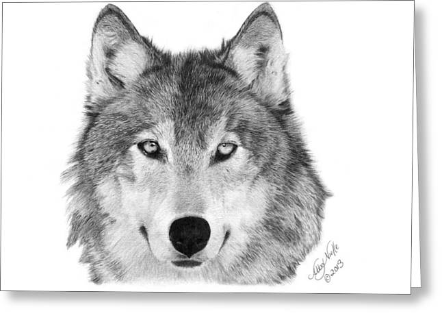 Wolf - 004 Greeting Card