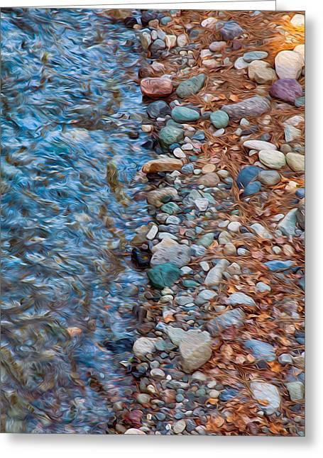 Wolf Creek Downstream Greeting Card by Omaste Witkowski