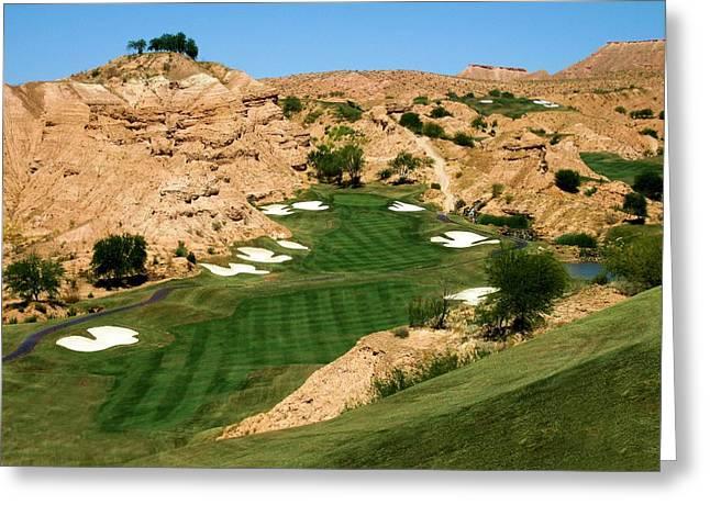 Wolf Creek Golf Club Hole #1 Greeting Card