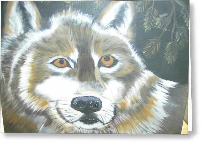 Wolf Gaze Greeting Card