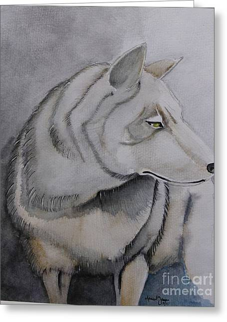 Wolf Greeting Card by Grant Mansel-James