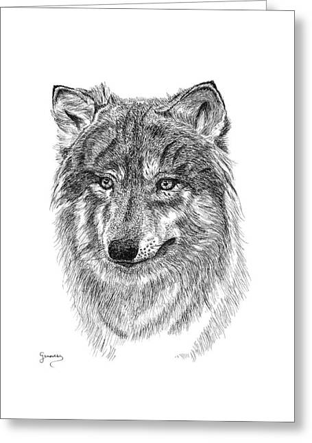 Wolf II Greeting Card