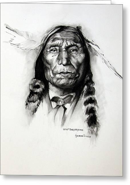 Wolf Robe - Cheyenne Greeting Card