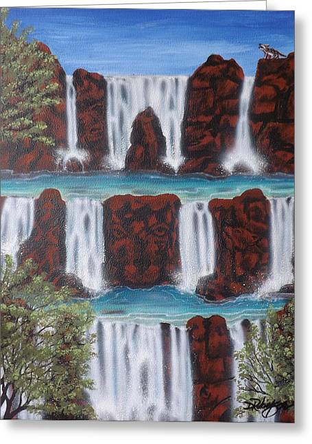 Wolf Spirit Falls Greeting Card