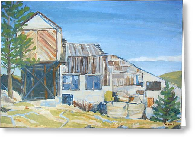 Wolf Tongue Mine Mill Greeting Card by Al Hart