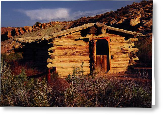 Wolfe Ranch Cabin, Arches National Greeting Card by Michel Hersen