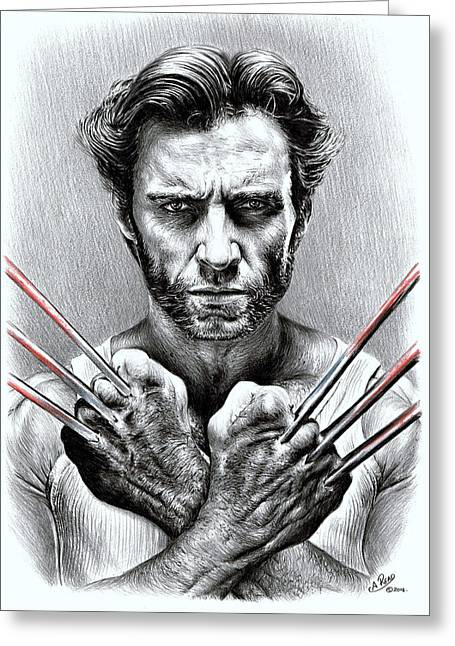 Wolverine Greeting Card by Andrew Read