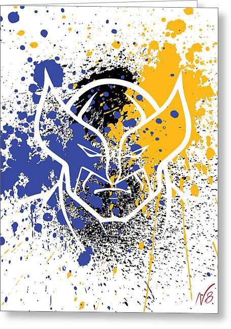 Wolverine Goes Splat Greeting Card