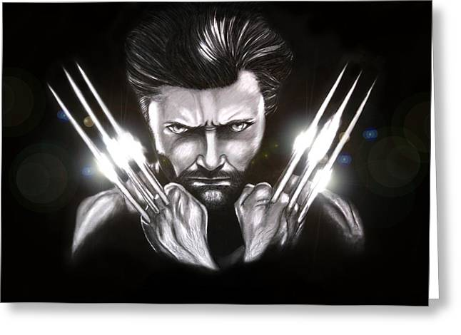 Wolverine Greeting Card by Kim Lagerhem