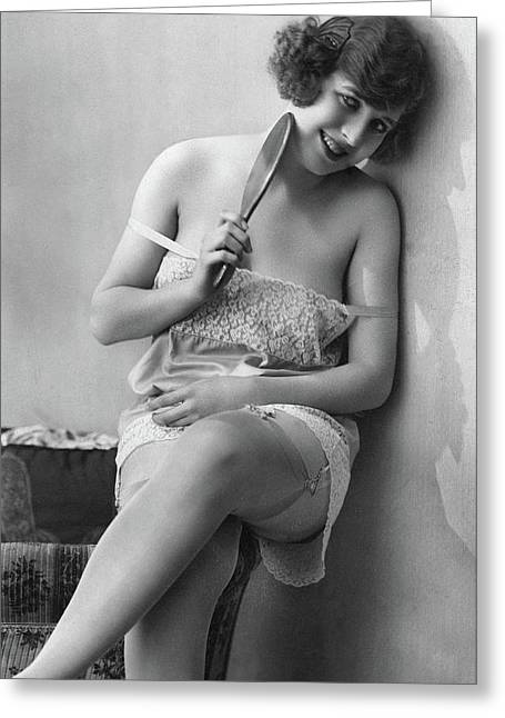 Woman, 1920s Greeting Card