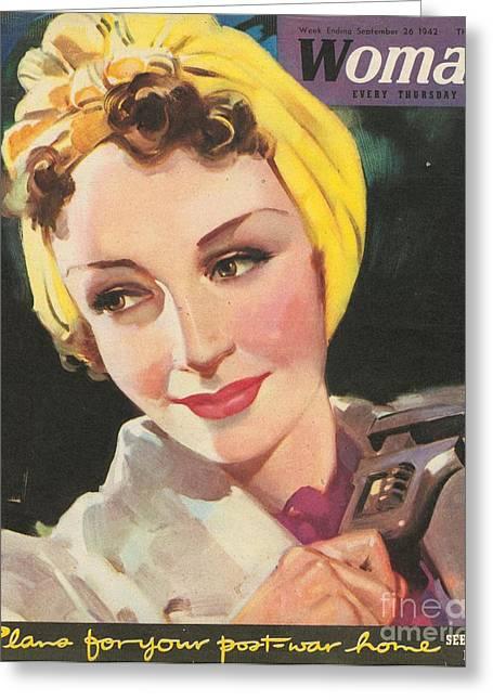 Woman 1940s Uk Women At War Mechanics Greeting Card