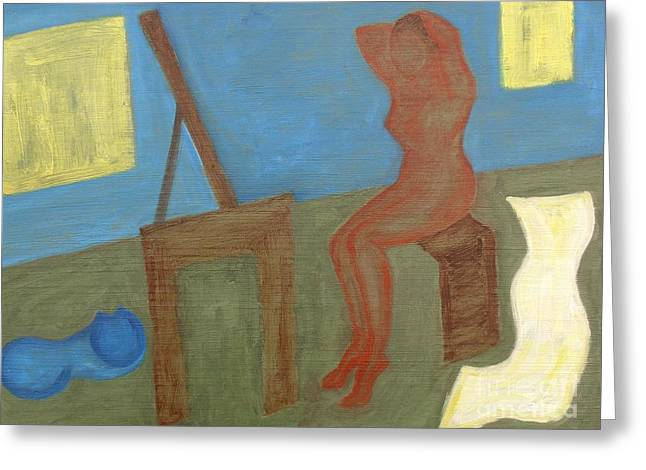 Woman After Bathing Greeting Card by Patrick J Murphy