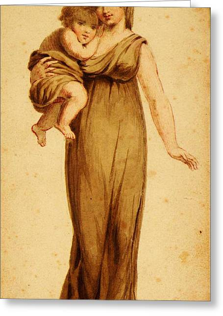 Woman And Child Greeting Card