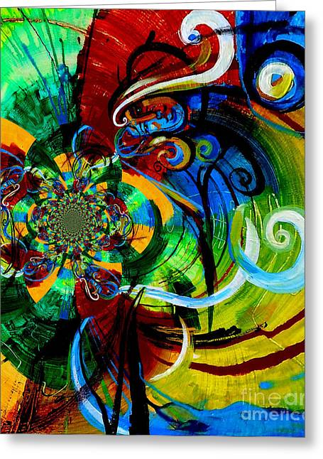 Woman Bass Kaleidoscope Greeting Card by Genevieve Esson