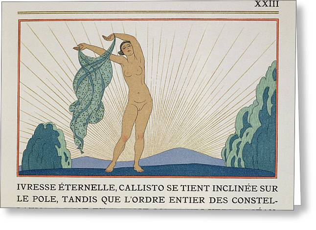 Woman Dancing Greeting Card by Georges Barbier