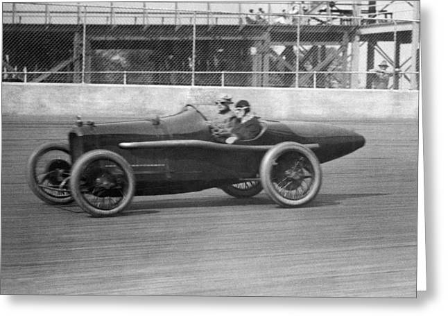 Woman Goes100 Mph In 1920 Greeting Card by Underwood Archives