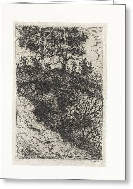Woman In A Dune Landscape, Arnoud Schaepkens Greeting Card