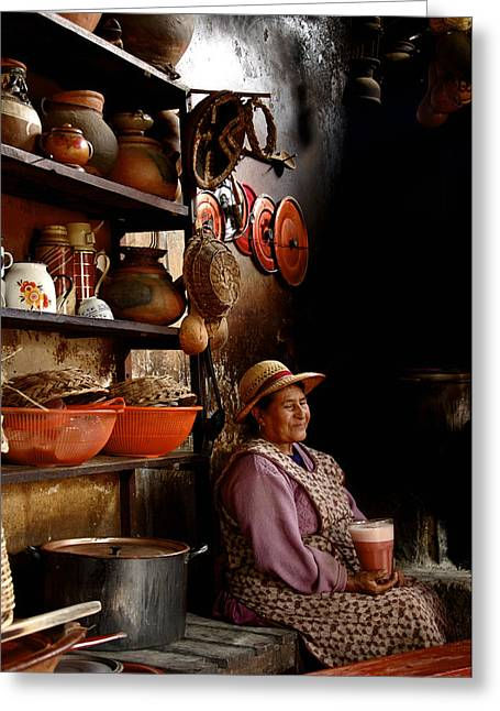 Woman In Chicheria Greeting Card