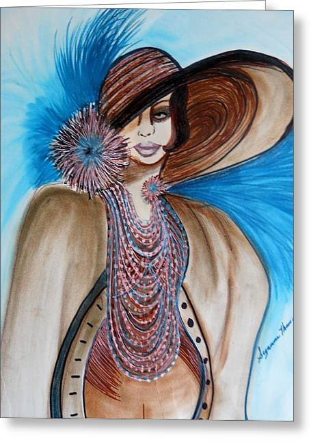 Woman Lost Greeting Card by Suzanne Thomas
