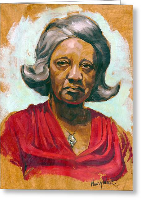 Woman Of Color Greeting Card by Harry West