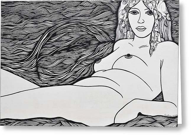 Woman Of Fifty Greeting Card by Jose Alberto Gomes Pereira