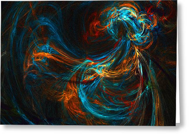 Greeting Card featuring the digital art Woman Of Spirit by R Thomas Brass