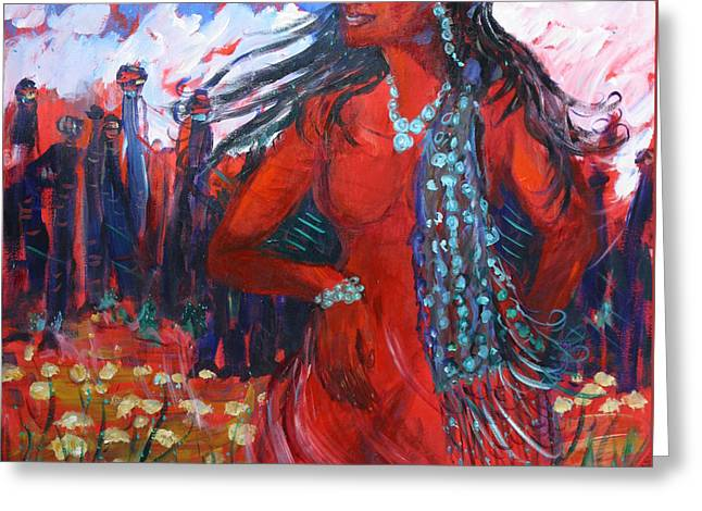 Woman Of The Whispering Wind Greeting Card