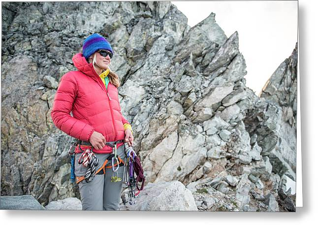 Woman On The North Ridge Of Forbidden Greeting Card