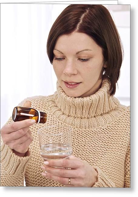 Woman Preparing Remedy Greeting Card
