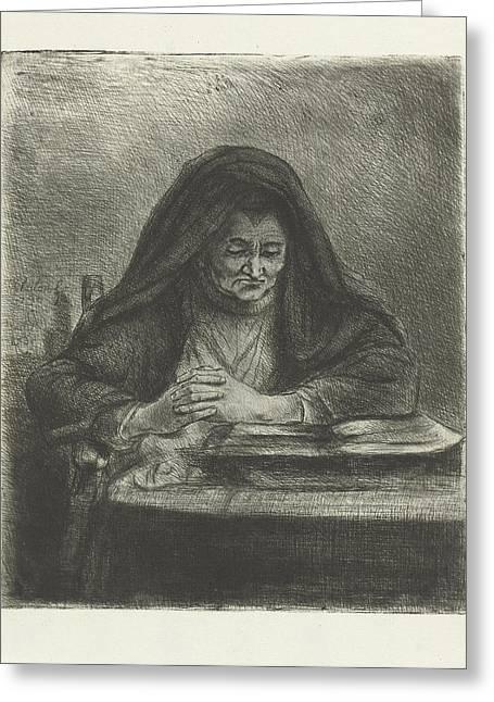 Woman Reading, Jan Chalon Greeting Card