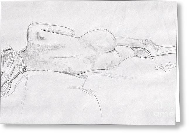 Woman Reclining Greeting Card