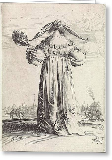 Woman Seen From The Back, Pieter Nolpe Greeting Card by Pieter Nolpe