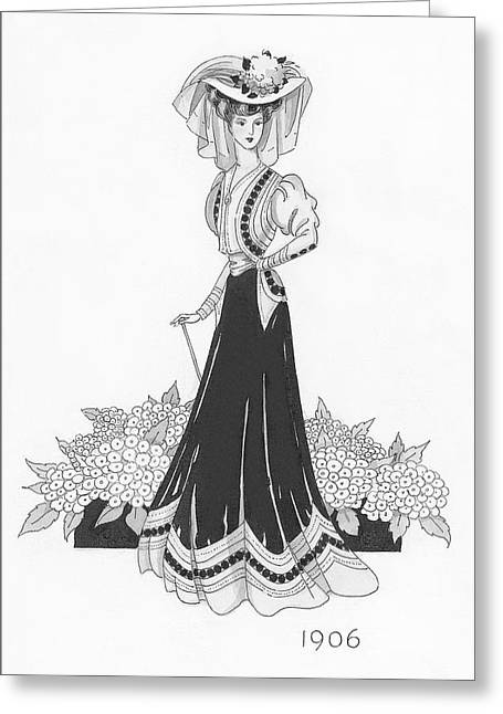 Woman Wearing A Sports Costume Greeting Card by Claire Avery