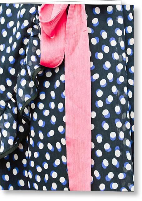 Woman's Dress Greeting Card by Tom Gowanlock