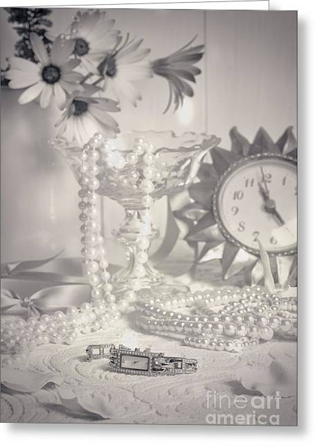Womans Dressing Table Greeting Card by Amanda Elwell