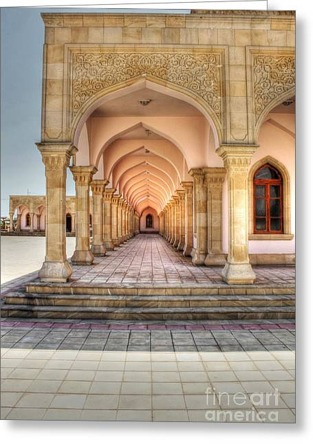 Woman's Mosque Greeting Card by Emily Kay