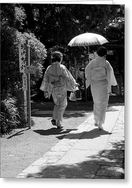 Women In Kimono Greeting Card