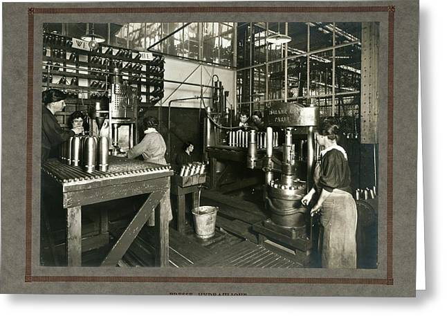 Women In Munitions Factory Greeting Card by Science, Industry And Business Library/new York Public Library
