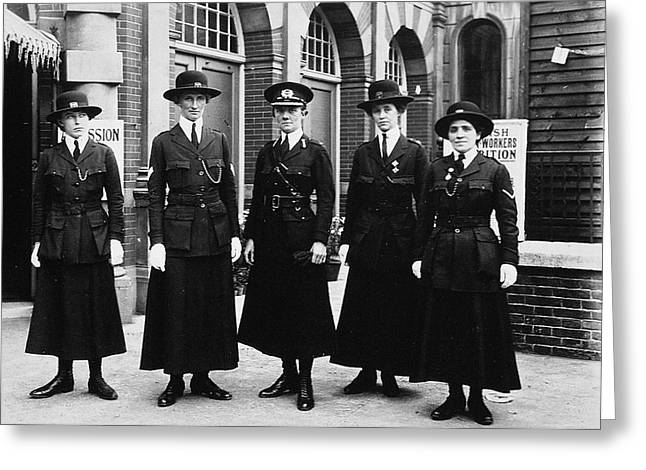 Women Police, 1916 Greeting Card by Granger