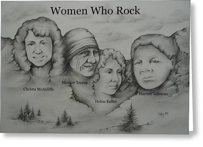 Women Who Rock 2 Greeting Card by Catherine Howley