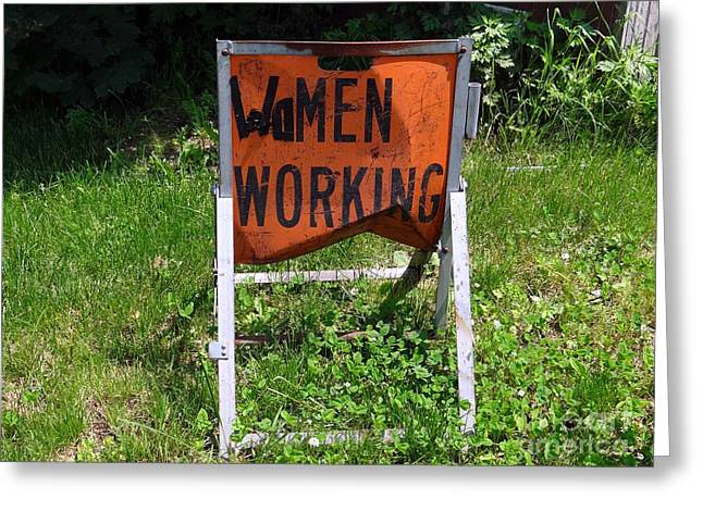 Greeting Card featuring the photograph Women Working by Ed Weidman