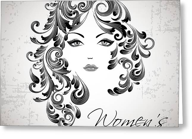 Women's Day Usa Greeting Card by Stanley Mathis