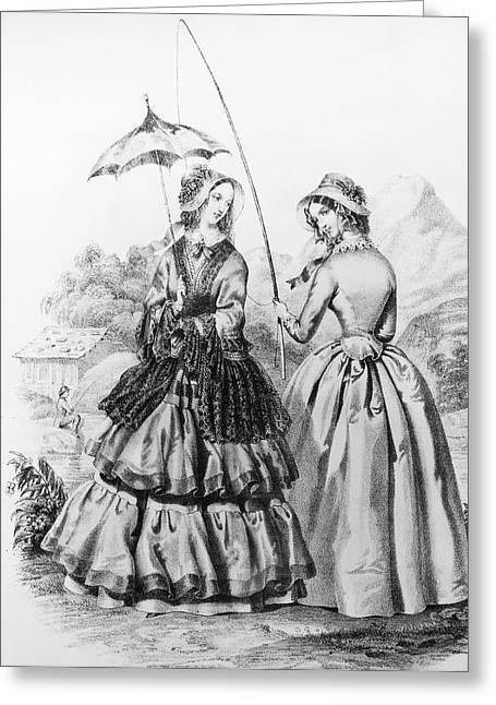 Women's Fashion, 1845 Greeting Card by Granger
