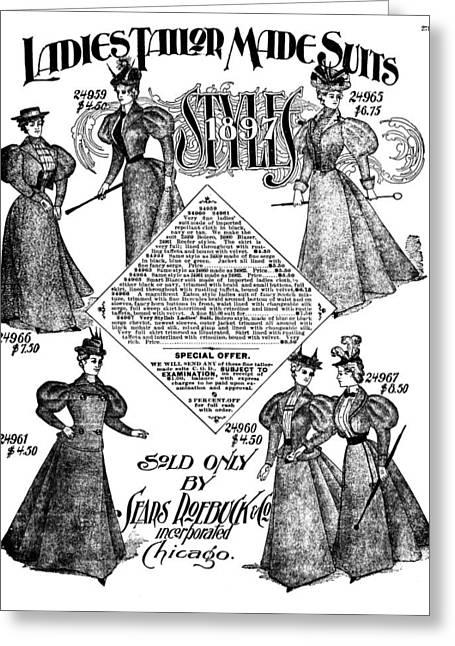 Women's Fashion, 1897 Greeting Card by Granger