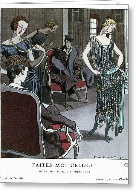Women's Fashion, 1921 Greeting Card by Granger