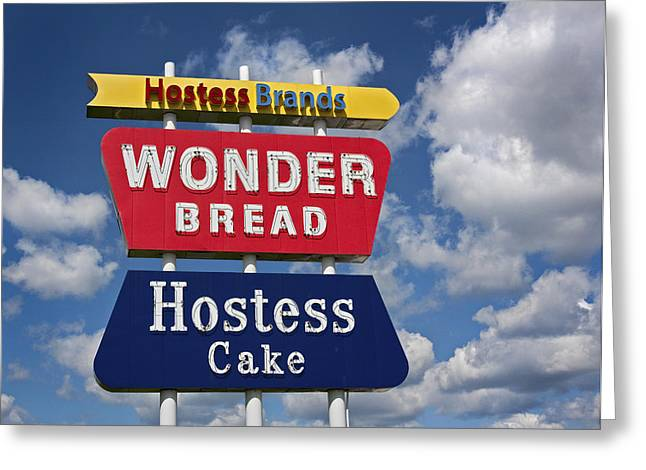 Wonder Bread Hostess Sign Greeting Card by Audra J Shields