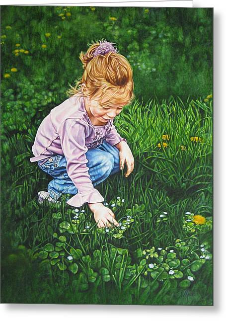 Wonder In A Wildflower Greeting Card