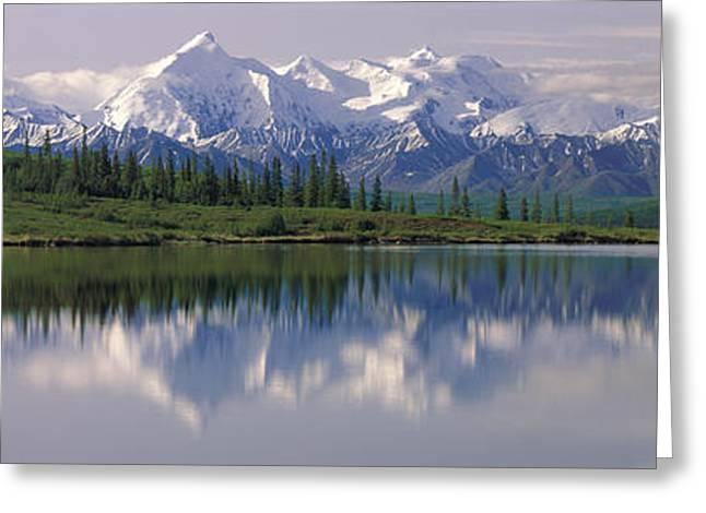 Wonder Lake Denali National Park Ak Usa Greeting Card by Panoramic Images