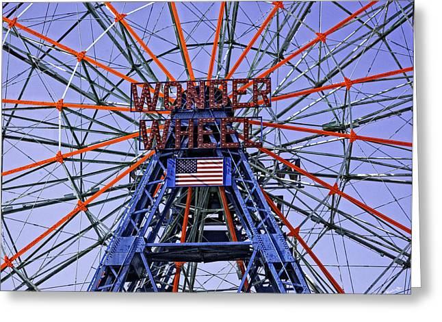 Wonder Wheel 2013 - Coney Island - Brooklyn - New York Greeting Card by Madeline Ellis